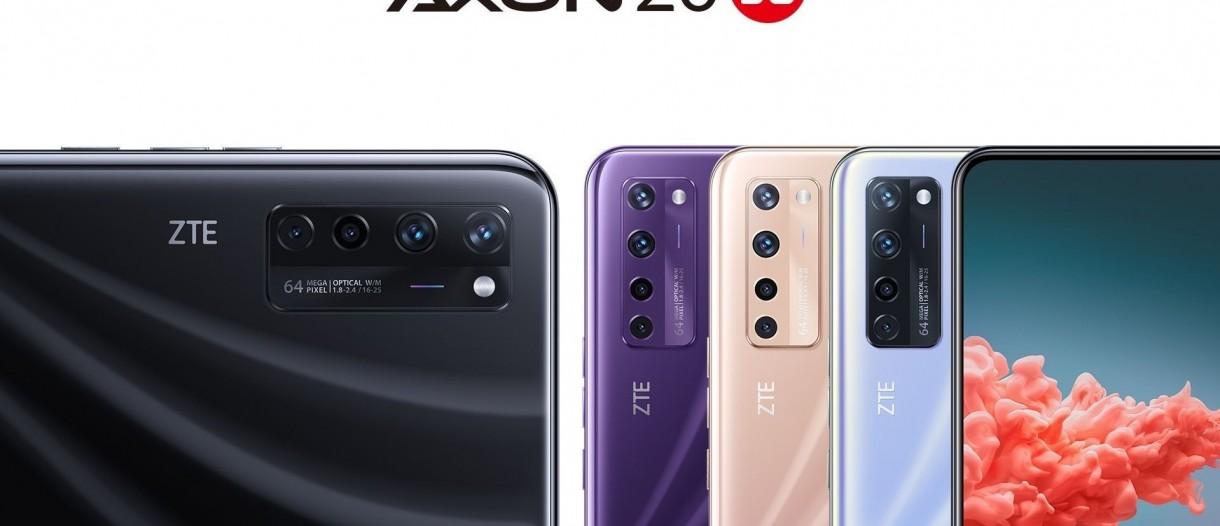 ZTE Axon 20 5G; Ekran altı kameraya sahip telefon